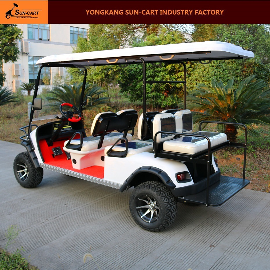 6 Passenger Electric Hunting Golf Cart (Rear back folding seats)