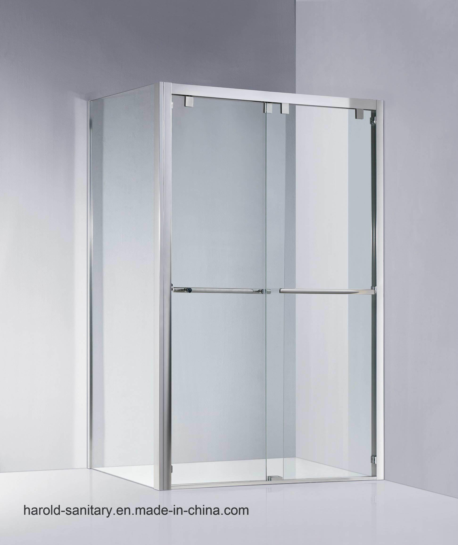 Stainless Steel Framed Double Sliding Shower Enclosure