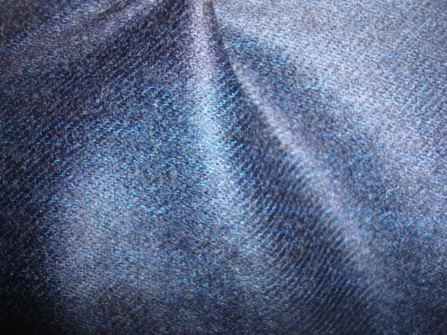 Wool Jersey Knit Denim Fabric