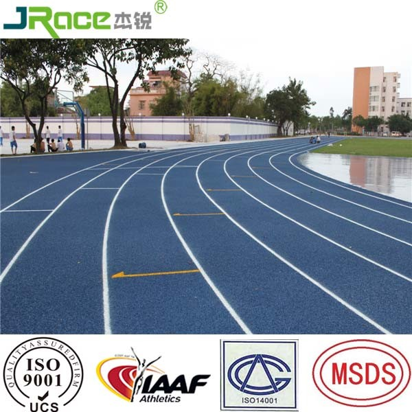 High School Running Track with Numbered Lanes
