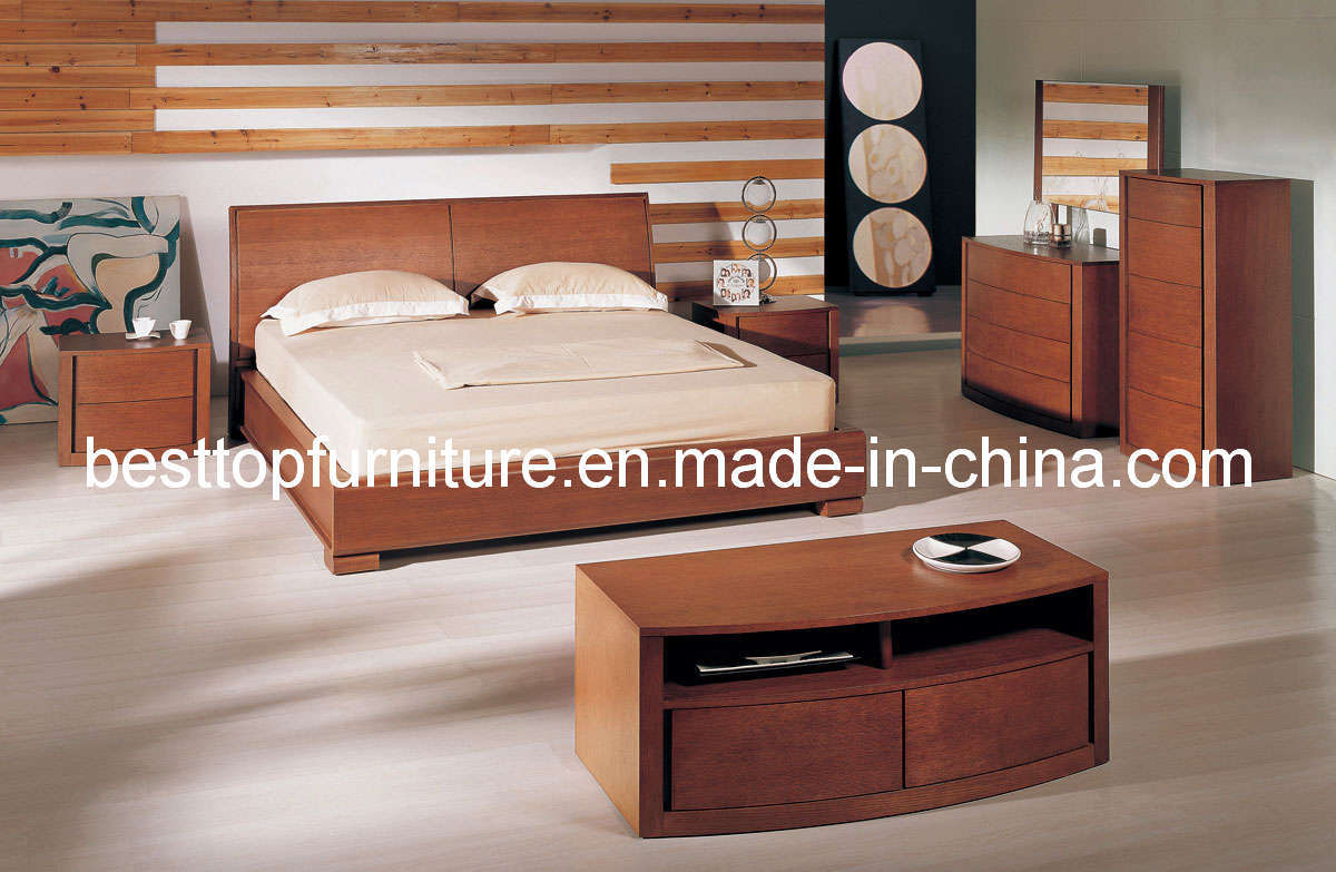 China Wood Veneer Bedroom Furniture 8809A China Bedroom Furniture
