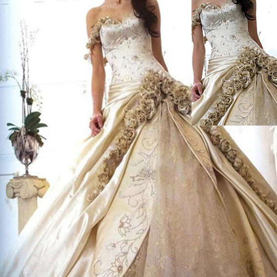 Unique Wedding Gown Saucy Bridal Gown ZQ1100