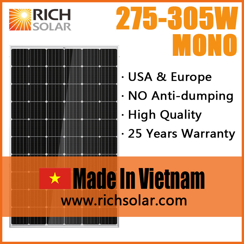 290W PV Solar Panel Solar Module Made in Vietnam