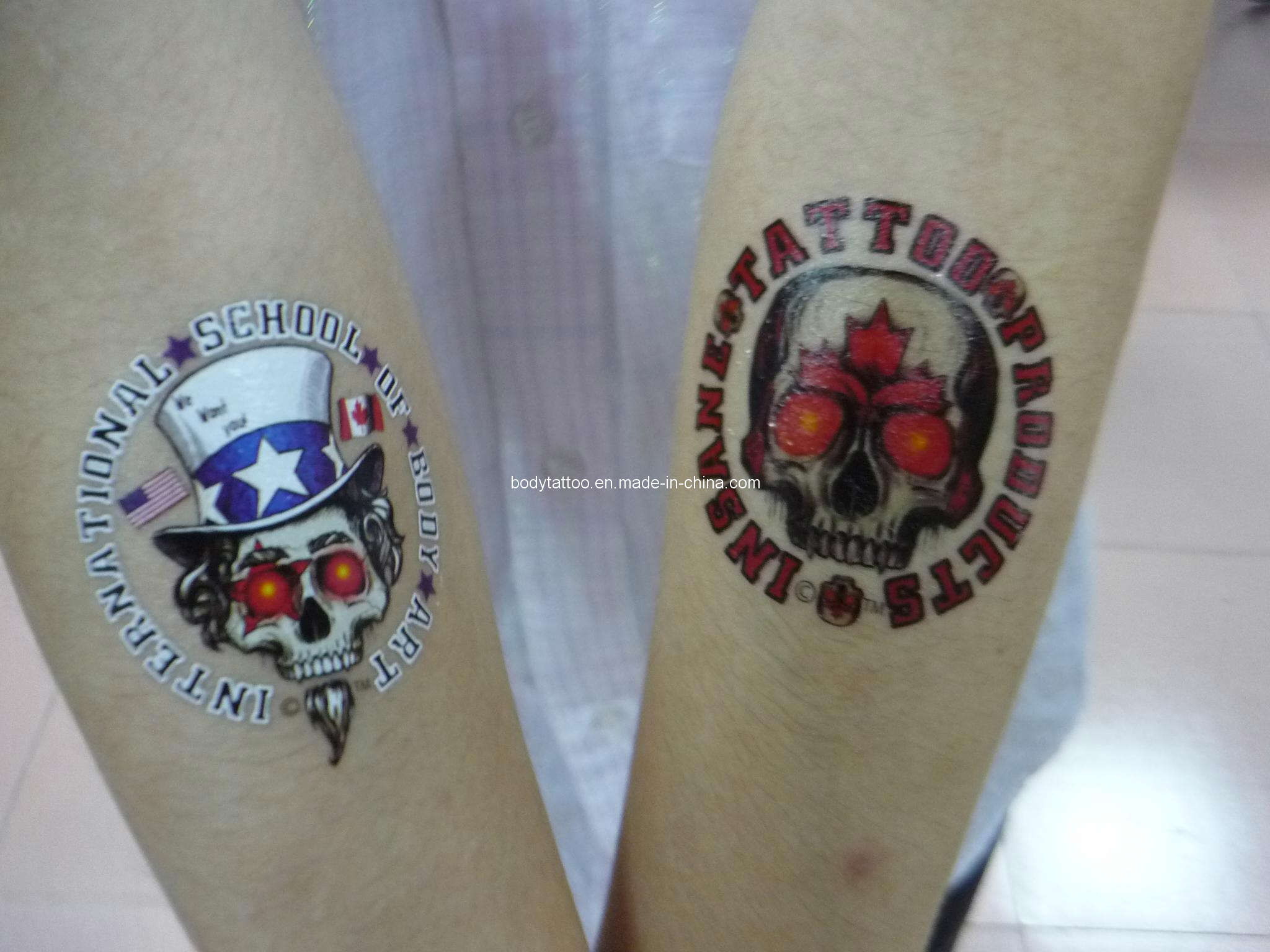 Temporary tattoos custom canada limit city of ink tattoo for Custom temporary tattoos that look real