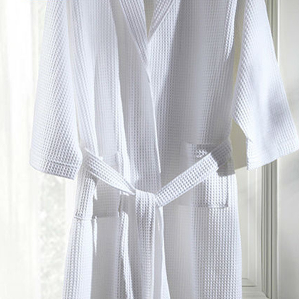 Hotel Waffle Bathrobe with High Quality Cotton (DPF10128)