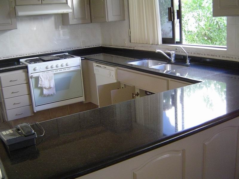 Absolute Black Granite Vanity Top and Kitchen Countertop
