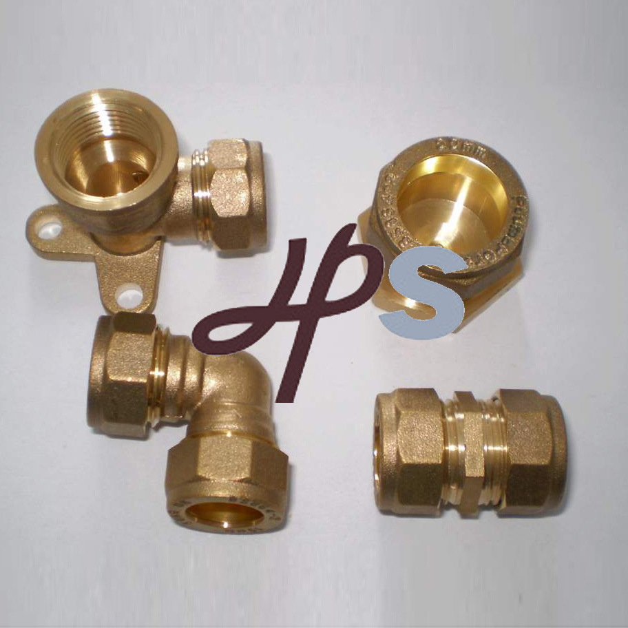 China brass compression fitting for copper pipe h