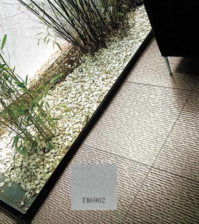 Non slip ceramic floor tile