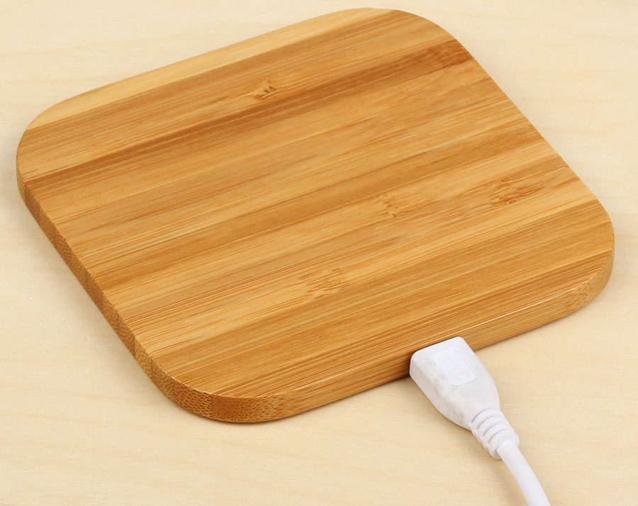 Bamboo Qi Wireless Charger for iPhone