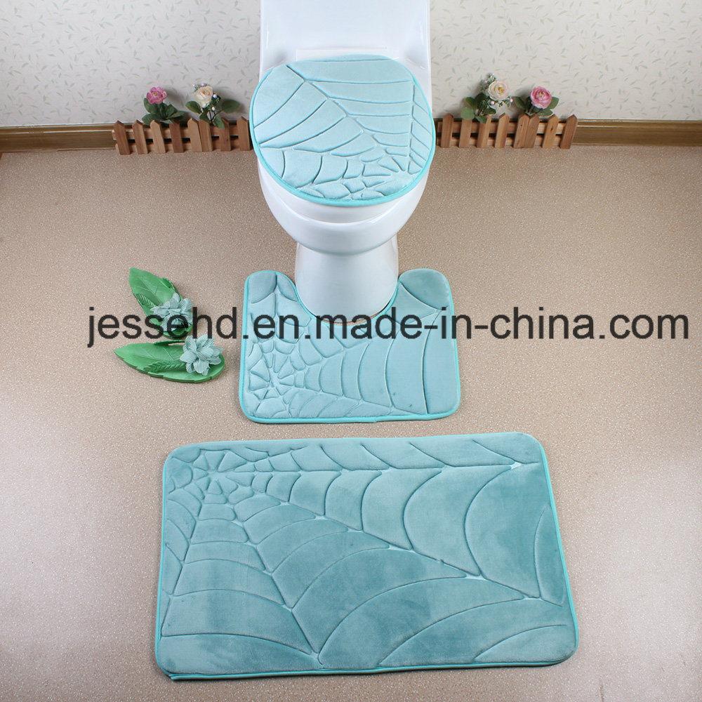 Washable and Comfortable 3PCS Flannel Bathroom Floor Rug Set