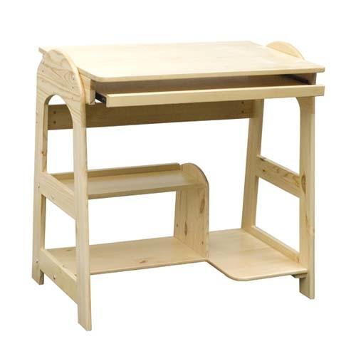 Hot Sales Luxury Pine Computer Standing Desk, Wooden Toy Computer Desk for Kids, Best Seller Computer Desk for Children Wj278318