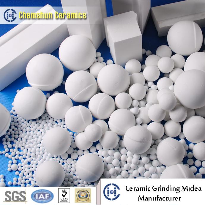 High Alumina Grinding Ball & Lining Brick for Ball Mill and Pebble Mill
