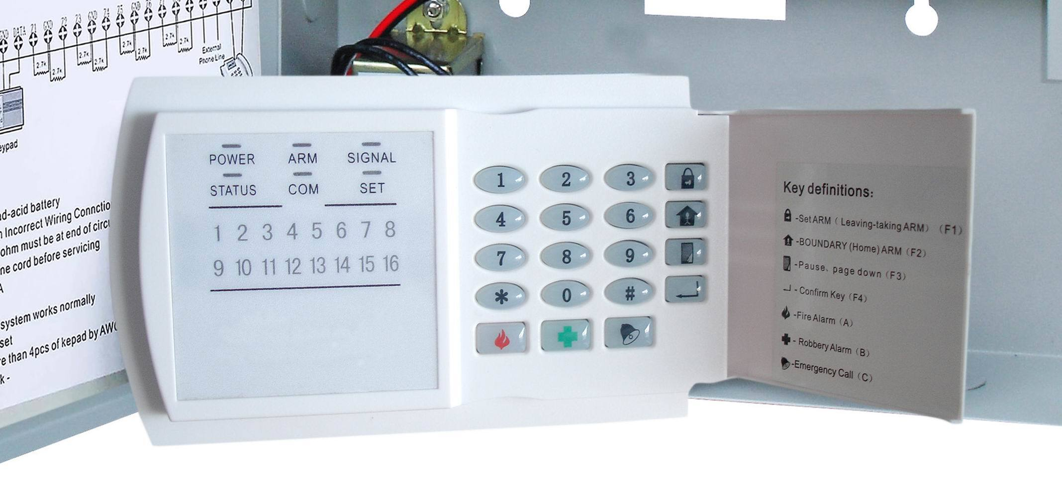 Home Security Wired Alarm System with 8 Zones (ES-808)