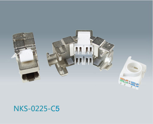 Cat5e FTP RJ45 Toolless Keystone Jack (NKS-0225-C5e)