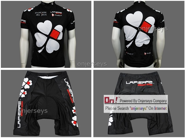 FDJ Black Cycling Jersey & Shorts Set - China Cycling Jersey, Bib ...