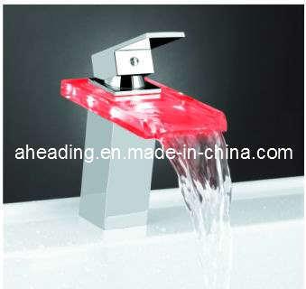 Glass LED Basin Mixer