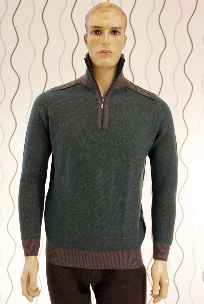 Knitted Pullover Open Collar Yak / 85% Yak &15%Wool/Yak Wool Sweater/Clothing/Textile