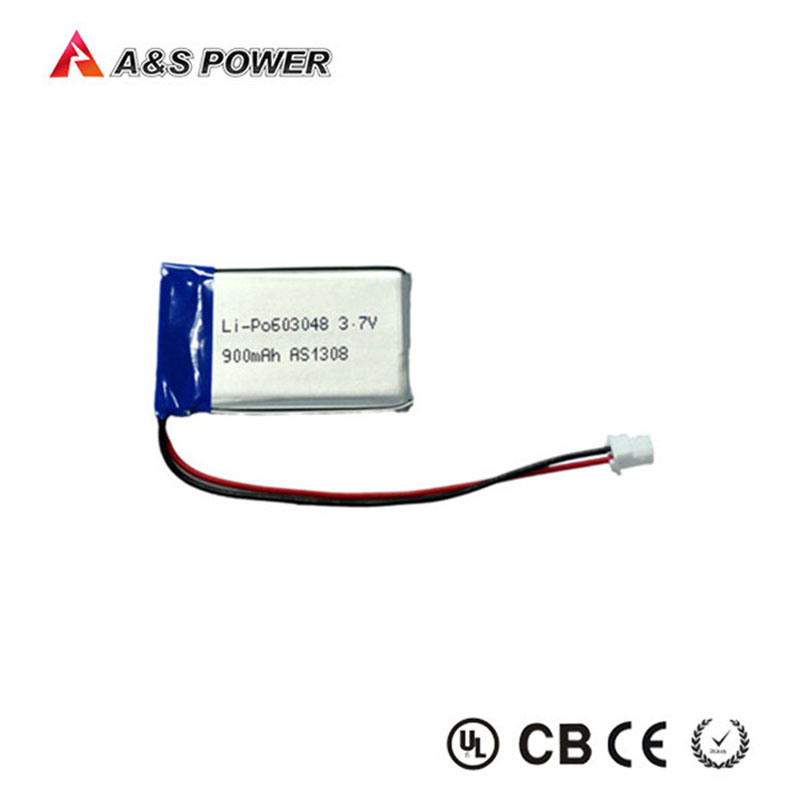 UL Approval 603048 3.7V 900mAh Lithium Polymer Battery with Connector