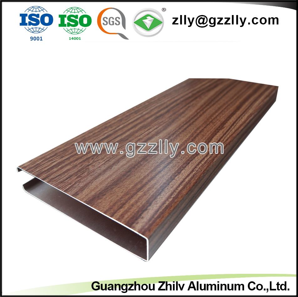 Fireproof Wooden Color Aluminum False Ceiling pictures & photos