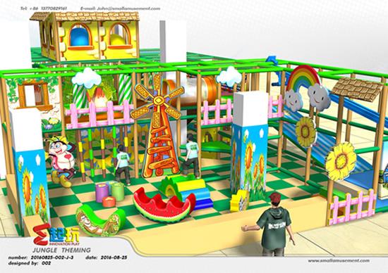 Junior Area of Village Themed Indoor Kids Playground