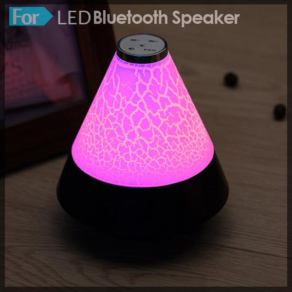 Mini MP3 LED Light Handsfree Stereo Speaker Loudspeaker