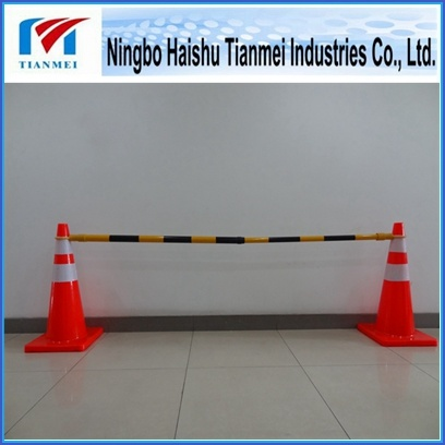 Reflective Road Cone with Retractable Traffic Pipe