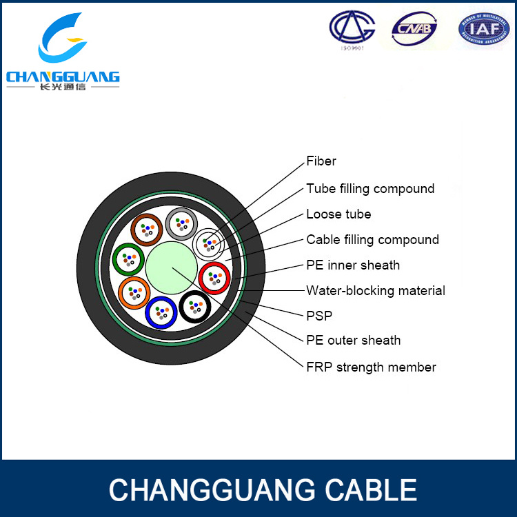 Factory Price 12/24/36 Core G652D Fiber Direct Burial Optic Cable