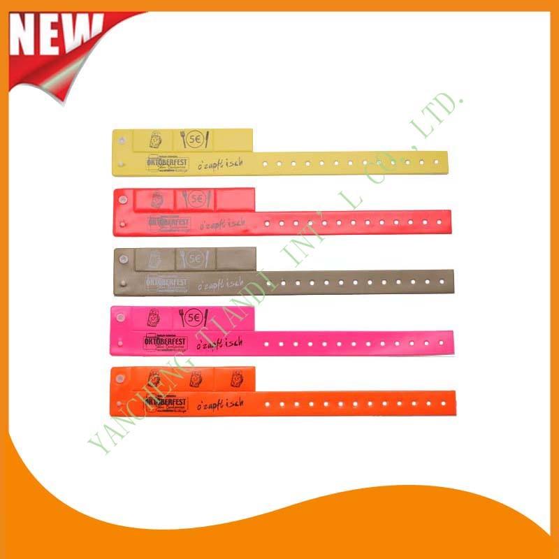 Entertainment 3 Tab Vinyl Plastic Wristbands ID Bracelet (E6070-3-1)
