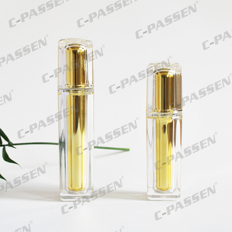 Acrylic Gold Crystal Cream Bottle Jar for Cosmetic Packaging (PPC-NEW-008)