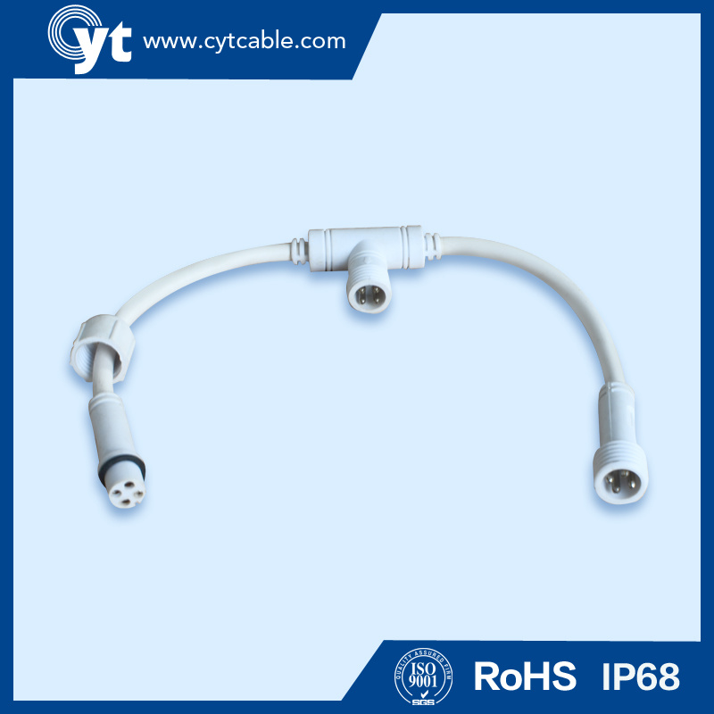 IP 68 Waterproof Socket Cable for Outdoor LED Lighting