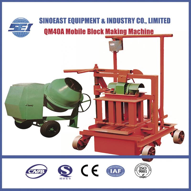 Qm40A Mobile Block Making Machine