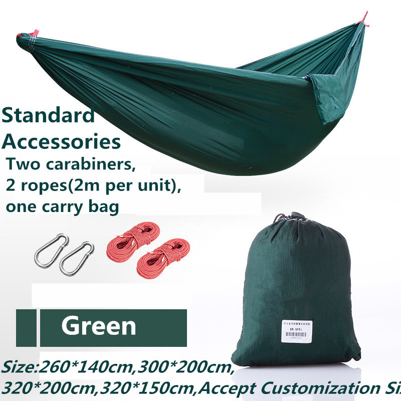 Carries Double Parachute Nylon Hammock with Carabiners