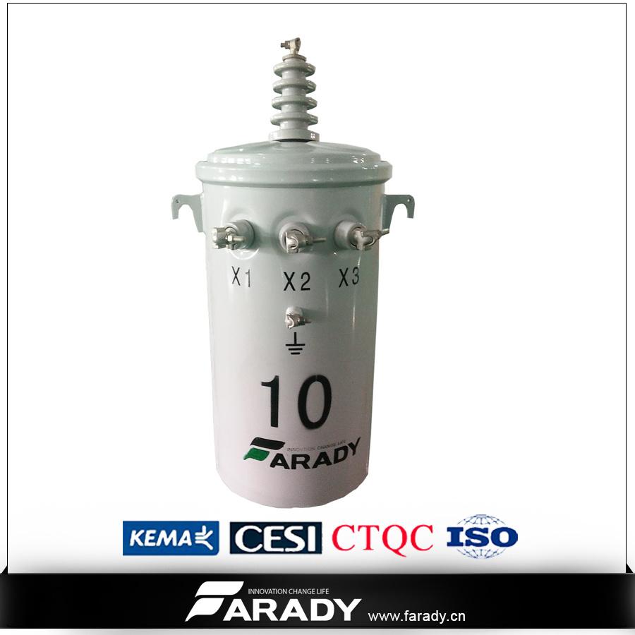 13.2kv 7.62kv 75kVA Oil Type of Pole Mounted Distribution Transformer