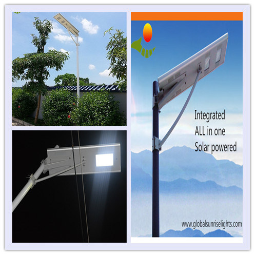 6-80W Outdoor Integrated LED Luminaire, Solar LED Road Lamp, Solar Street Light