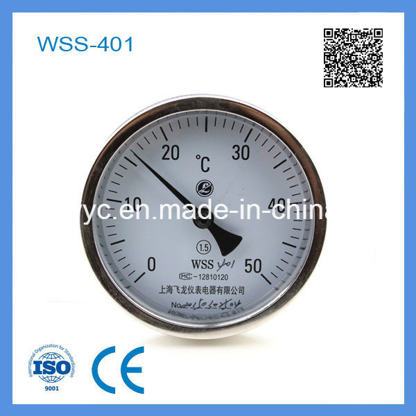 Wss-401 High Quality Stainless Steel Industry Bimetal Thermometer