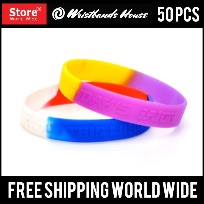Custom Design Emboss Silicone Bracelet