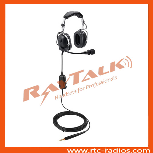 Two Way Radio Aviation Headset/Ground Support Noise Cancelling Headset