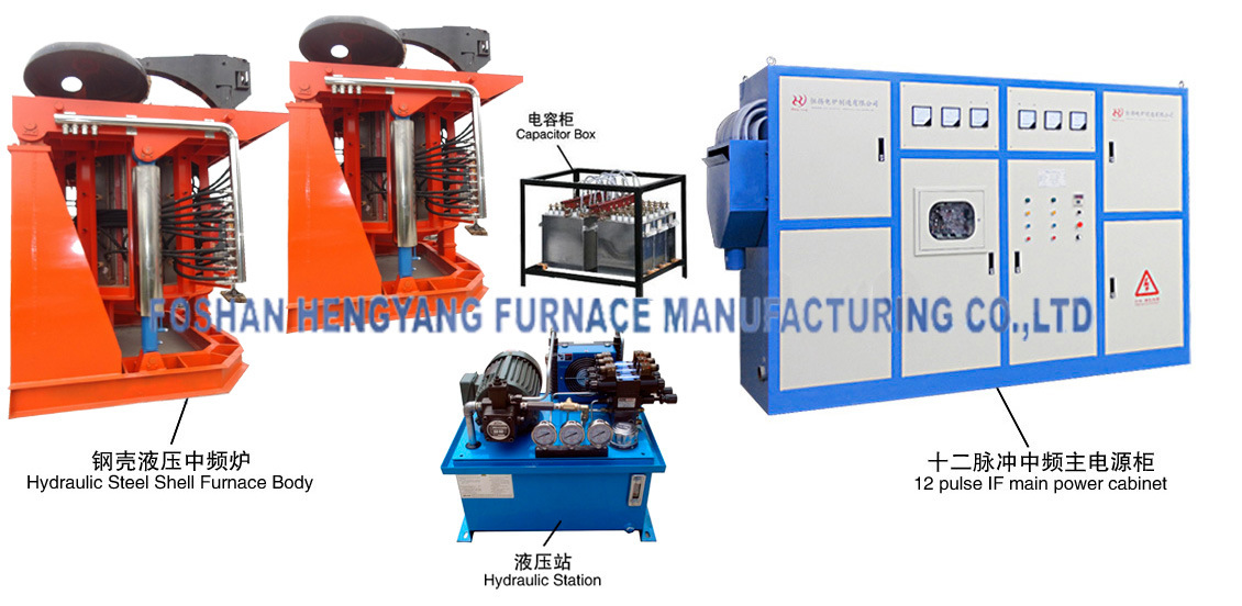 12 Pulse Hydraulic Steel Shell If Furnace