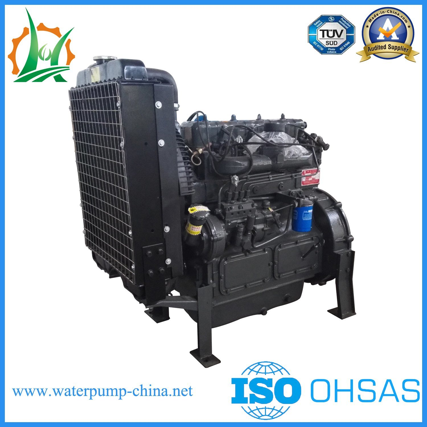 Trash Diesel Engine Dewatering Split Case Water Pump Trailer