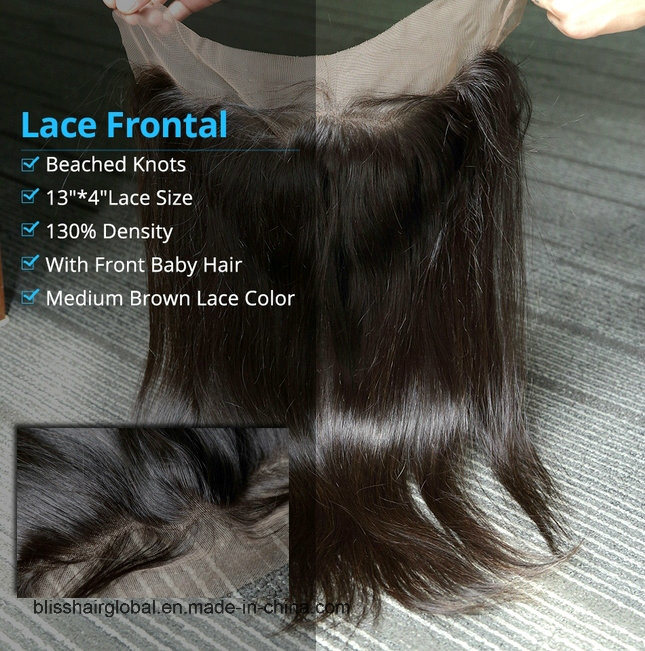 Bliss Hair 13X4 Lace Frontal Three/Free/Middle Part Top Swiss Lace Frontal Straight Brazilian Virgin Human Hair Frontal Pieces