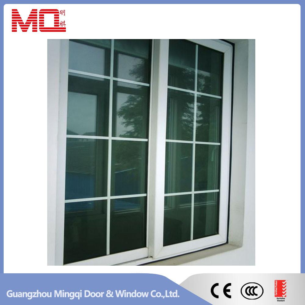 Plastic Window UPVC Sliding Window Grill Design