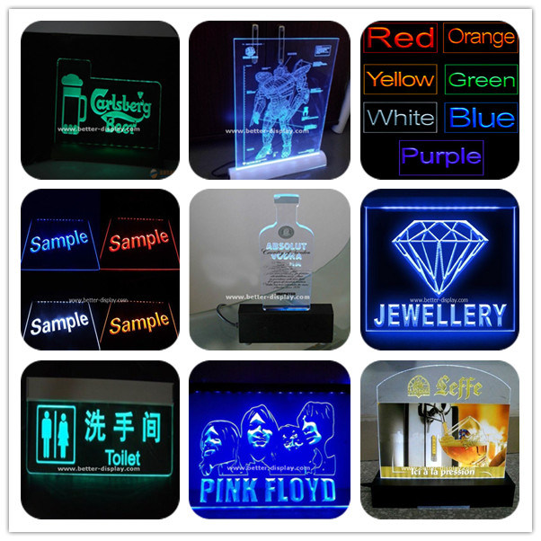 Custom Clear LED Sign Board with Logo (BTR-I4001)