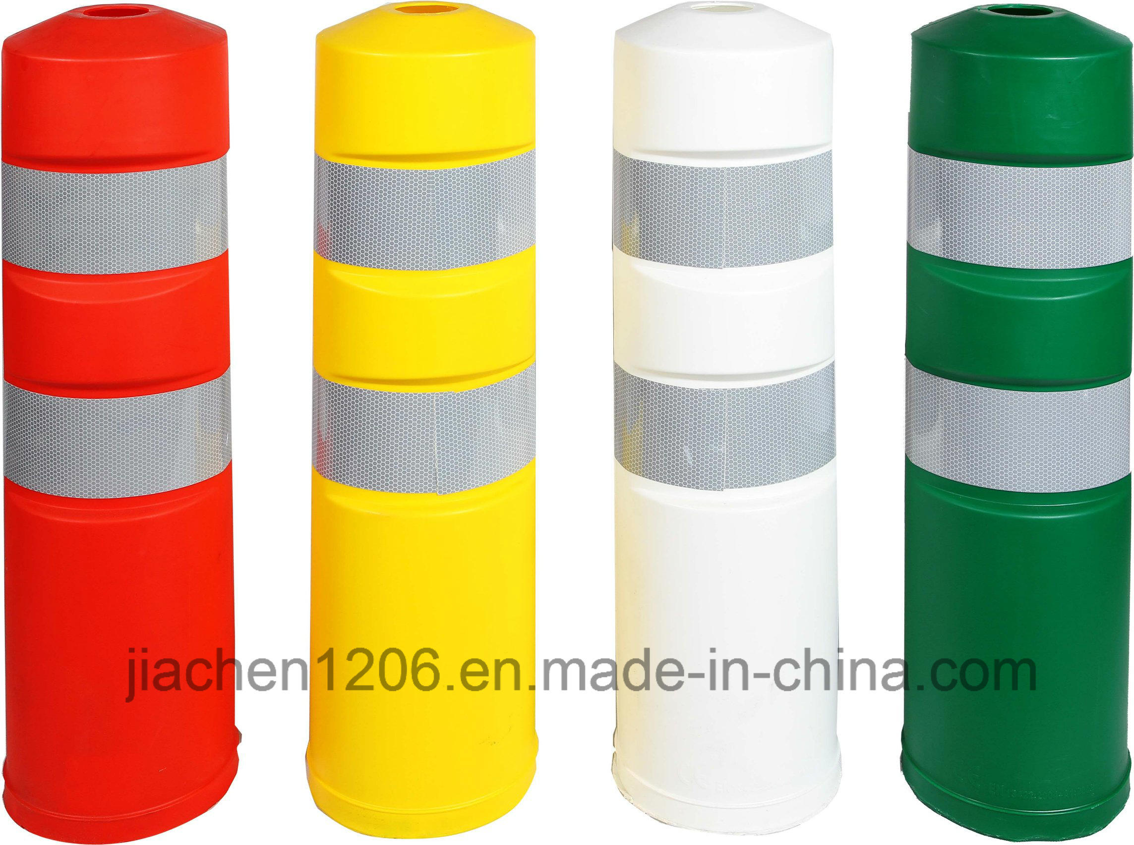 Colorful Metal Mounting Plate EVA &⪞ Apdot; 8 in⪞ H Warning Bollard