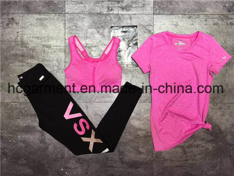 Quickly Dry Sports Suit for Women/Lady, Fitness Wear, Running Wear