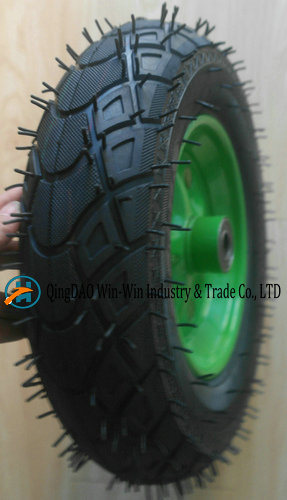 Wear-Resistant Pneumatic Rubber Wheel for Trolley (3.50-8/350-8)