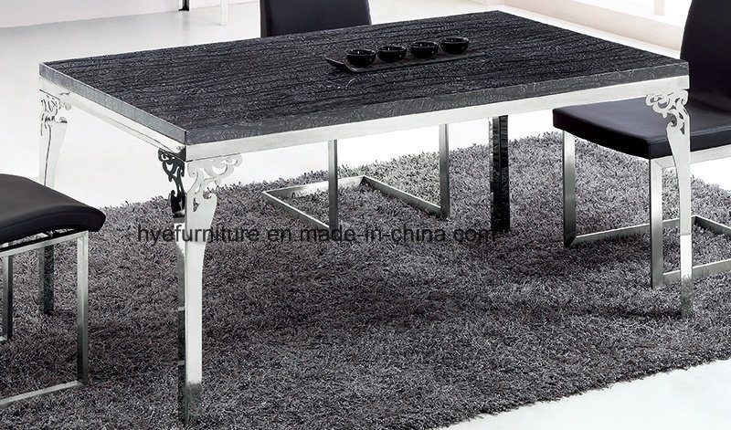 High Level Dining Room Furniture Marble Dining Table
