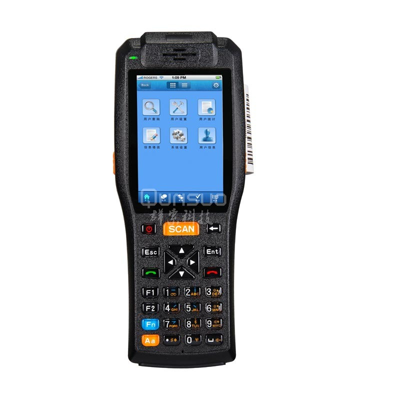 Touch Screen Wireless Android Handheld Computer with Printer Industrial Rugged