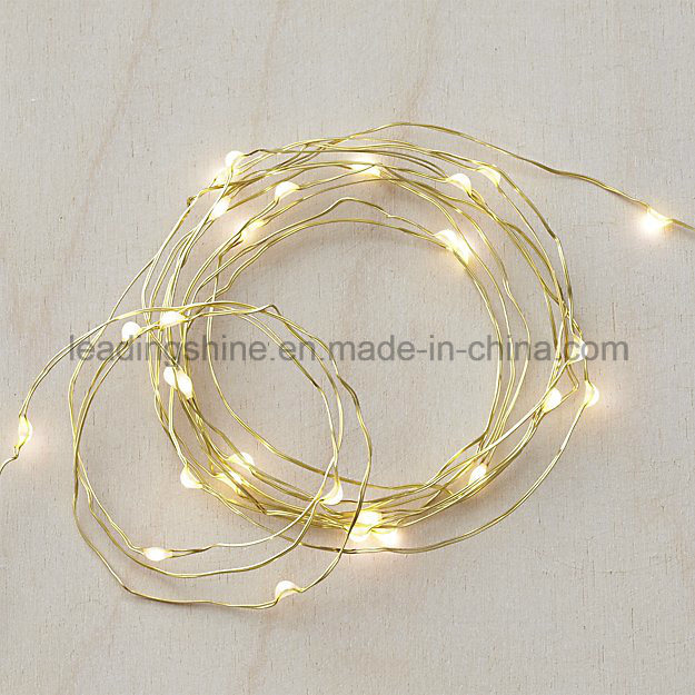 20 Micro LEDs String Light Battery Powered Ultra Thin String Copper Wire Decor Rope Flexible Light