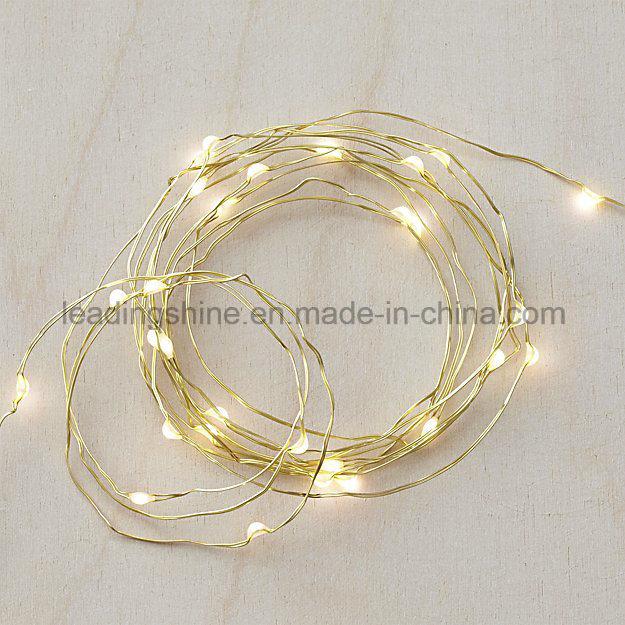 Wedding Decoration Light Cr2032 Battery Operated Dewdrop String Lights