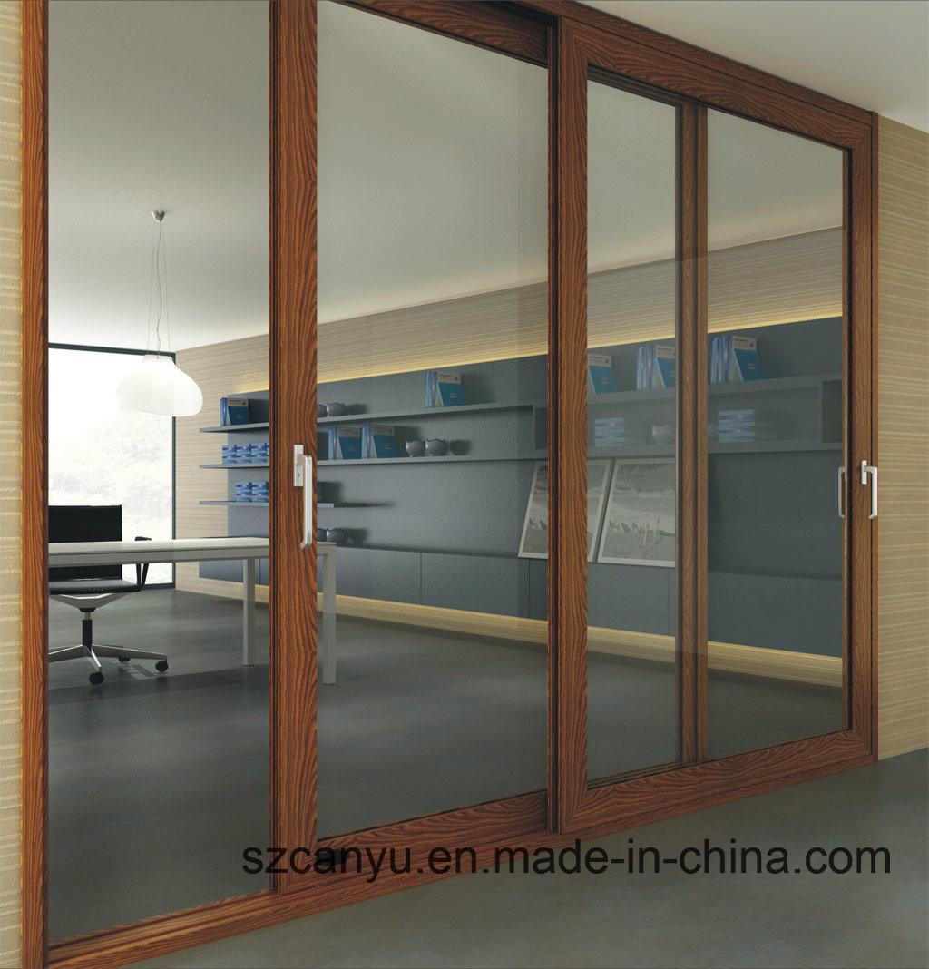 Soundproof Wood Package Aluminium Wood Colour Window